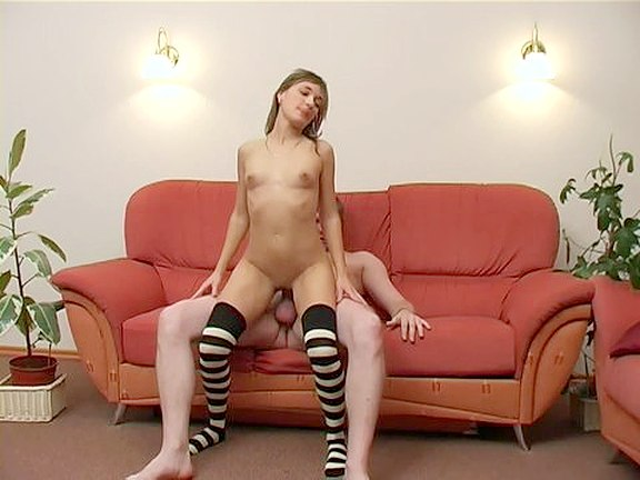 Nice and Kinky Girl in Stockings Sex