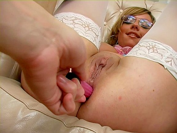 Stockings Sex for Hot Chick in Glasses
