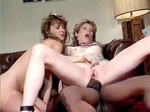 1 Pierced pussy bad girl gets black cock in 80s porn