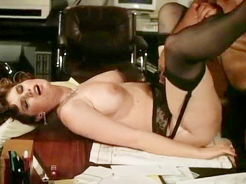 Passionate office fuck in a classic xxx video