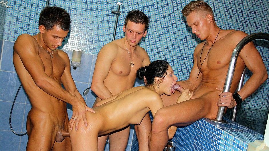 фото групповуха в бане