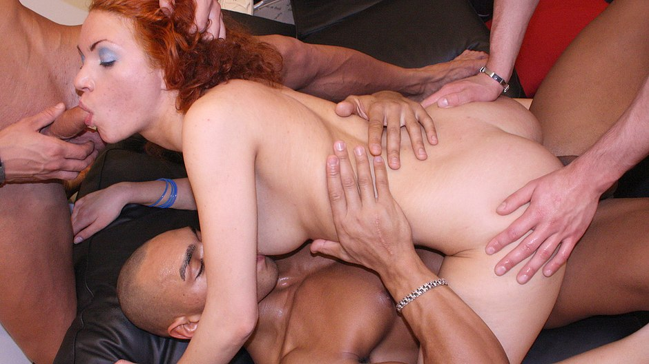 Sexy maid fucked hard by 3 horny guys