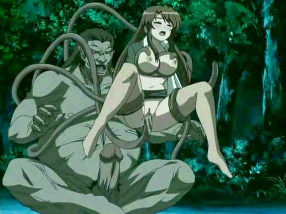 Monster with tentacles diddling babe