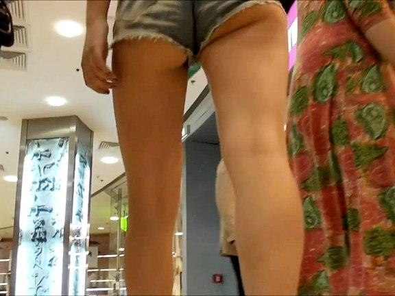 Tight jeans shorts and hq upskirt