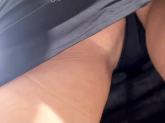 Sitting upskirt filmed in a cafe