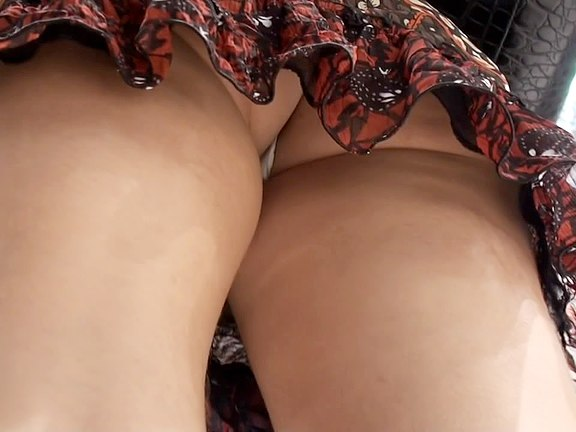 High school girls upskirt thongs