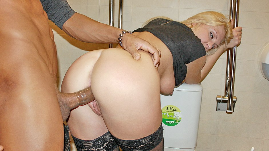 Pick up sex with busty blonde