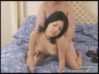 Busty girl takes part in amateur porn movie