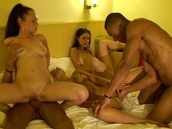 Group sex in bedroom